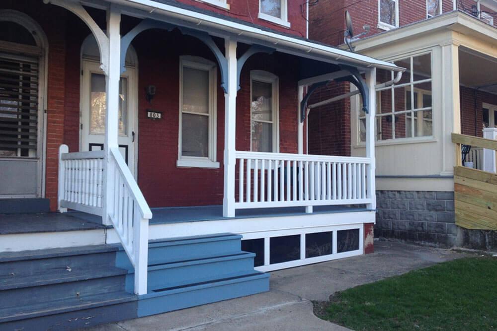 City Home Front Porch